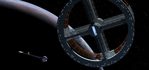 2001:a space odyssey;Discovery and Space Station 5