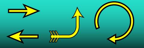 illustrator outline ARROW;イラストレーターで白抜きの矢印を描く