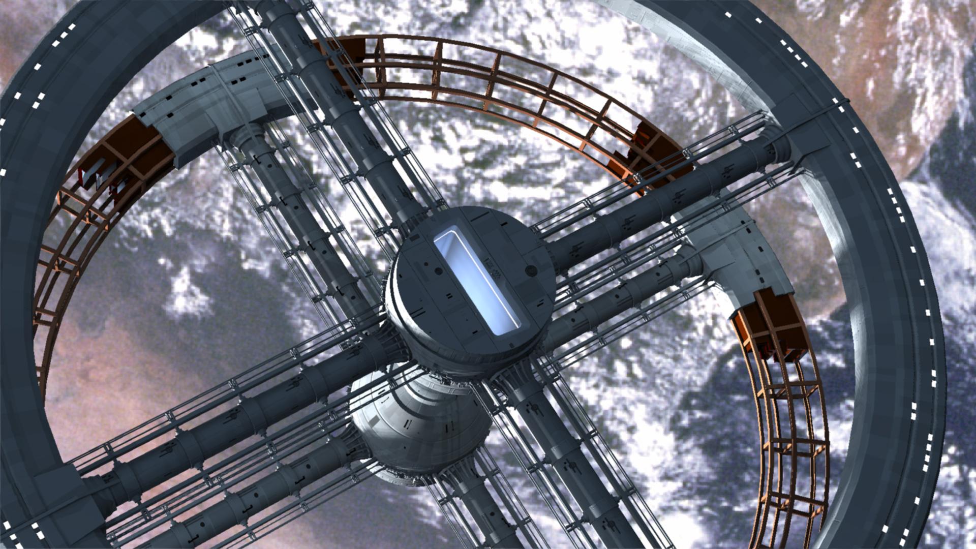 ■たっぷり宇宙ステーション5CG動画;2001年宇宙の旅: 万象酔歩 万象酔歩 あれやこれやと